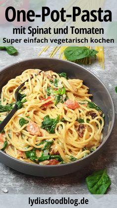 Veggie Dishes, Pasta Dishes, Spaghetti Squash Recipes, One Pot Pasta, Cooking Recipes, Healthy Recipes, Vegan Pasta, Evening Meals, Main Meals