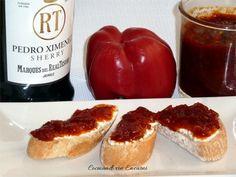 Confitura o mermelada de pimientos rojos al Pedro Ximenez