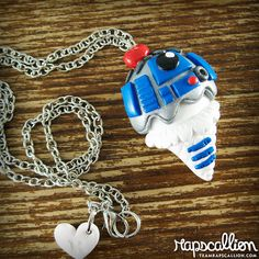 R2D2 Ice Cream Cone Necklace by rapscalliondesign on Etsy