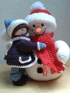 Knuffelen met sneeuwpop ♡♡