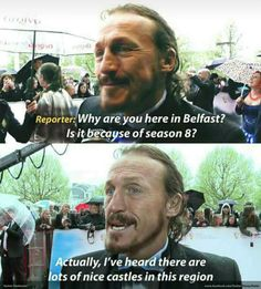 Will someone just give Bronn a castle? Game of Thrones. Will someone just give Bronn a castle? Game of Thrones. 9gag Funny, Funny Games, Hilarious Memes, Fun Funny, Funny Stuff, Game Of Thrones Meme, Watch Game Of Thrones, Bronn Game Of Thrones, Jon Snow