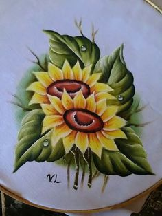 1173 Best Handpainted Flowers Images In 2019 Fabric Painting