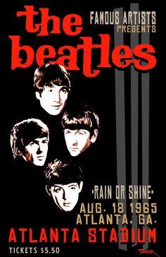 The Beatles - Atlanta Stadium 1965 - Mini Print