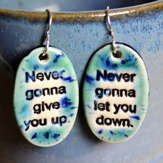The Ultimate Ceramic Earrings in Blue by surly on Etsy, $22.00