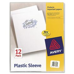 Avery Plastic Sleeves, Clear, Pack of 12 (72311)