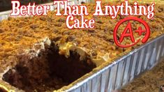 1 Box German choc cake mix 1 jar smuckers Carmel 1 tub cool whip 1 can sweetened. Condensed milk 1 bag toffee pieces Ingredients that your box cake mix c. Box Cake Mix, Cake Mix Cookies, Better Than Anything Cake, Cake Youtube, Cake Mix Recipes, Most Popular Recipes, Cookie Bars, Sweet Treats, Good Food