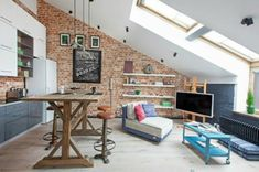 kleine wohnung dachfenster einrichten tipps