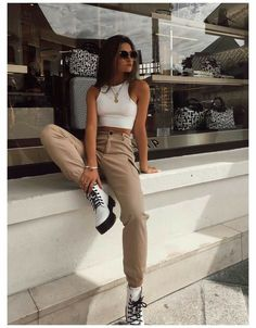 Spring Outfit Women, Trendy Fall Outfits, Style Outfits, Sporty Outfits, Casual Summer Outfits, Mode Outfits, Fashion Outfits, Fashion Ideas, Spring Outfits
