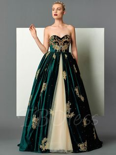 Velvet Sweetheart Ball Gown Appliques Beading Embroidery Floor-Length Evening Dress Online store for the latest fashion & trends in women's collection. Shop affordable ladies' Dresses, Clothing, Shoes & Accessories with top quality. Elegant Dresses, Pretty Dresses, Sexy Dresses, Fashion Dresses, Prom Dresses, Vintage Formal Dresses, Flapper Dresses, Dress Prom, Formal Gowns