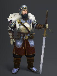 Character design Knight, Roman Paygusov on ArtStation at https://www.artstation.com/artwork/knight-82fcc2a1-6f9f-41c4-ac97-d37ddca6453b