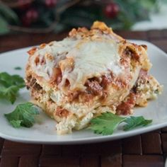 Creamy ricotta, noodles, meat sauce and Parmesan and Romano cheeses melted together for a true comfort food dish.