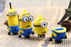 Here you can find the three dimensional USB Flash Drive which looks exactly like a Minion from Despicable Me movie.