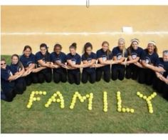 Family softball picture!