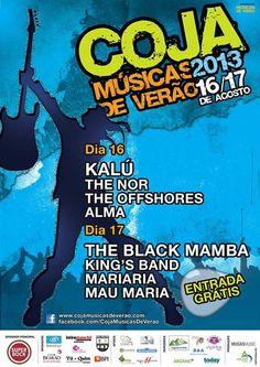 Festival | Coja - Músicas de Verão | 16 e 17 de Agosto | Coja (Arganil)