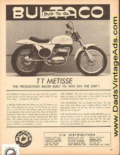 1965 Bultaco TT Metisse – the production racer built to win on the dirt!
