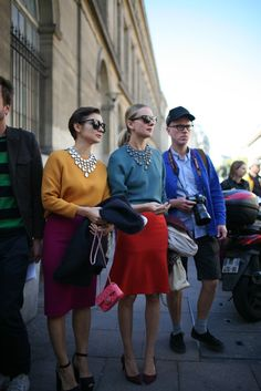:: colorful ladies :: paris fashion week street style 2014 / 2015