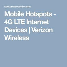 Mobile Hotspots - 4G LTE Internet Devices | Verizon Wireless