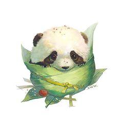 Đọc Truyện Sưu Tầm Ảnh Đẹp - Artist: Xuewawa - ᗰɑ ᑎữ - Wattpad - Wattpad Panda Sketch, Bear Sketch, Cute Animal Illustration, Cute Animal Drawings, Panda Love, Cute Panda, Photo Panda, Art D'ours, Panda Mignon