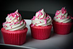 Think Pink Cupcakes by Sugar Baby Sweets, via Flickr