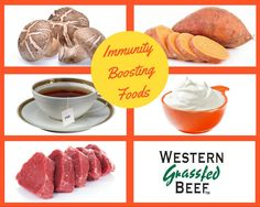 Beef Up With Foods That Boost Your Immune System: It then lists the top five foods that give your body the best immunity: beef, sweet potatoes, mushrooms, tea and yogurt. Beef Nutrition, Grass Fed Beef, Immune System, Health Benefits, Sweet Potato, Yogurt, Stuffed Mushrooms, Potatoes, Diet
