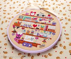 This is a Craft Room Counted Cross Stitch PATTERN only - no fabric or floss is included in this purchase. It is designed for intermediate stitchers and includes some half stitches, several french knots and moderate backstitch. Please dont hesitate to contact me if you experience any