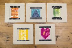 Create your own Heart Spool Block as part of the Fresh Spool Series on Fresh Lemons Quilts