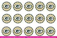 Greenbay Packers -NFL inspired bottle cap sheet, 4x6""