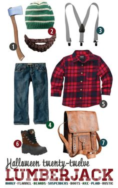 "lumberjack party | will button up the flannel, snap on his suspenders, ""grow"" a beard ..."
