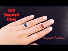 Best Easiest DIY Ring ever. How to make Bicone beaded ring – Yo… - DIY Schmuck Thin Engagement Rings, Baguette Engagement Ring, Baguette Diamond Rings, Engagement Ring Settings, Diy Beaded Rings, Diy Rings, Beaded Bracelets, Tutorial Anillo, Ring Tutorial