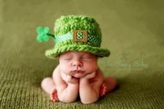 Baby leprechaun... too cute  Oh, @Jessica Molepske, I just can't quit tagging you in some of these cute, cute things! =0)
