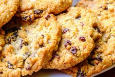 Chewy Oatmeal Cookies with Dried Cherries and Chocolate Chips Recipe Best Oatmeal Raisin Cookies, Oatmeal Coconut Cookies, Oatmeal Cookies, Chip Cookies, Healthy Junk Food, Healthy Cookie Recipes, Healthy Cookies, Dessert Recipes, Chocolate Chip Cookie