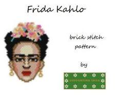 #brickstitch #fridakahlo #pendant  #miyuki