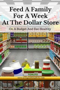 Could you feed your family for a week, healthy low processed foods from the dollar store for $50? Yes, yes you can!