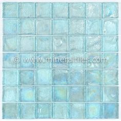 Pearl Glass Mosaic Tile Aqua Linear is made of clear glass and coated with a unique color palette, which recreates the look of a mother of pearl but with much more depth. The tiles are mesh mounted on
