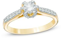 Zales 1/2 CT. T.W. Diamond Engagement Ring in 10K Gold