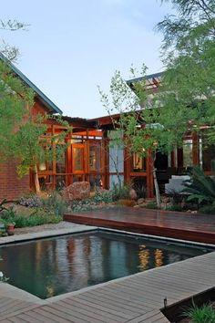 SA Garden and Home magazine Home Design Plans, Plan Design, Contemporary Interior, Modern Interior Design, Building A New Home, Architect House, House And Home Magazine, Interior Decorating, New Homes