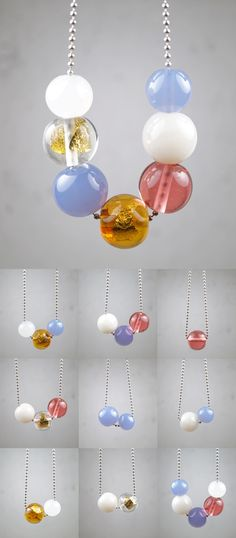 One Necklace, Endless Options| Hand Blown Glass Beads |Pureness Collection by Melanie Moertel | www.melaniemoertel.etsy.com