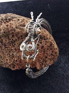 Sterling silver viking knit dragon bracelet, dragon jewelry, wire wrapped dragon bracelet, viking jewelry, artisan jewelry by wireandbeyond808 on Etsy https://www.etsy.com/listing/218637242/sterling-silver-viking-knit-dragon