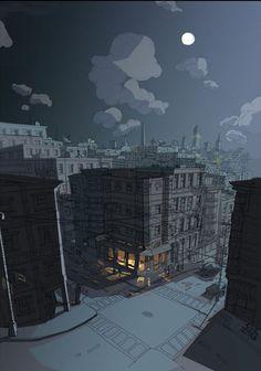 Open night city