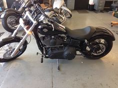 "2010 Wide Glide ""after"" added on black covers to get rid of some chrome and custom led turn signals in the forks."