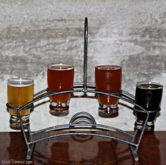 Seward Brewing's Flight of Beers. If.I.Must. :)    #alaska #craftbeer #seward #beerblog #brewery #alaskabeer