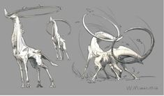 Monster Concept Art, Alien Concept Art, Creature Concept Art, Monster Art, Creature Design, Dark Creatures, Humanoid Creatures, Curious Creatures, Mythical Creatures Art