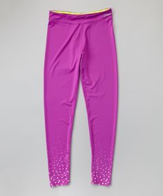 Look what I found on #zulily! ASICS Purple Cactus Foil Leggings - Girls by ASICS #zulilyfinds