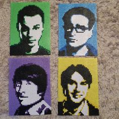 The Big Bang Theory portraits hama beads by daniel.jellvi - Original design by Pamela Z: https://www.etsy.com/shop/MostFavoriteAunt