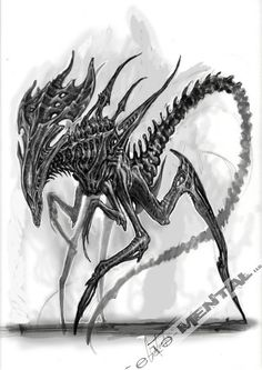 Some concept art from Alien: Resurrection. (full... • fuck yeah xenomorphs
