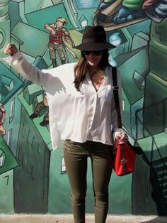 nataliachamps Outfit  urbano bohemio  Otoño 2012. Combinar Camisa-Blusa Blanca Pull