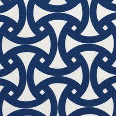 Santorini Print Fabric, Marine