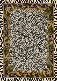 """Milliken Signature Jungle Safari 4559C / 13002 5'4"""" x 7'8"""" Snow Leopard Area Rug by Milliken. $199.00. Usually ships within 7-10 business days. Custom made in the U.S.A. with pride.. Made from stain resistant nylon fibers.. Great addition to your family room, game room or study.. Animal themes/print/images add a style of their own. Milliken Signature Jungle Safari 4559C / 13002 Snow Leopard 5'4"""" x 7'8"""" Area Rugs is a 5 x 8 rectangular shaped hand tufted rug. 5'4"""" x 7'8"""" in size,..."""