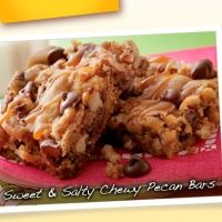 Sweet And Salty Chewy Pecan Bars Recipe