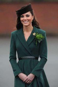 Kate Middleton Wore Shamrock Green in Honor of March #royalfamily trendhunter.com